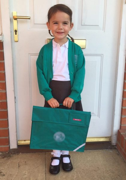 Kara first day of school