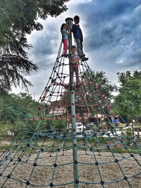 Paris kids climbing