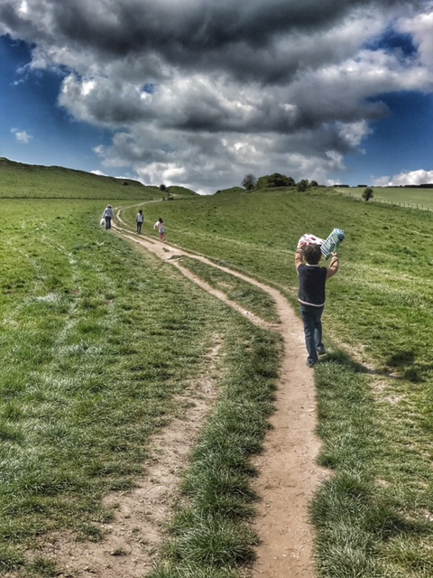 Weymouth walk up to Maiden Castle