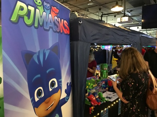 PJ Masks stand at BlogOnXmas conference at Hotel Football in Manchester