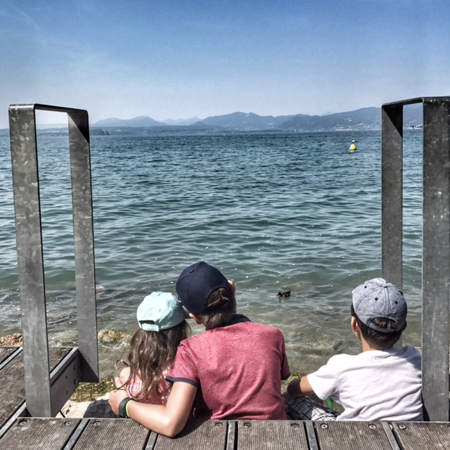 Summer holiday 2017 Bardolino kids watching the world go by