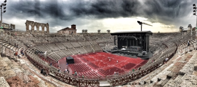 Summer holiday 2017 Verona Arena inside panorama