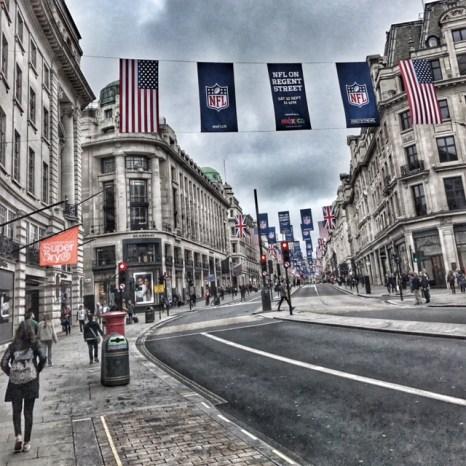 Regent Street NFL signs