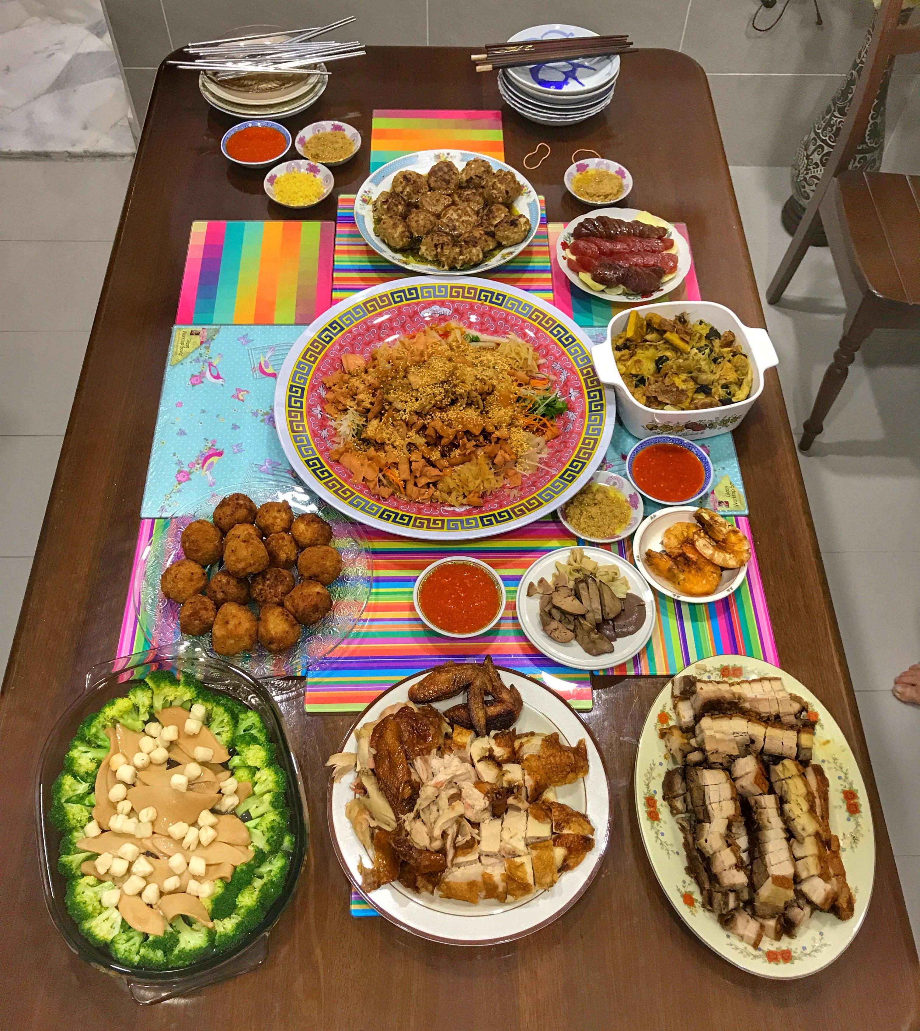 Malaysia 2018 Chinese New Year dinner