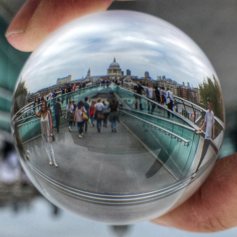 Millennium Bridge St Paul's Lensball