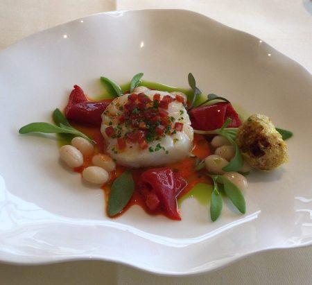 Le Manoir aux'Quat Saisons cod chorizo coco beans