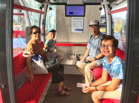 Isaac Toby Grandma Grandpa Emirates Air Line London a grand day out