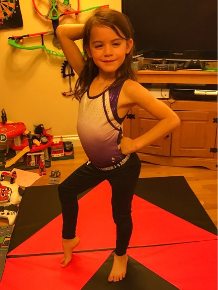Kara gymnastics strike a pose