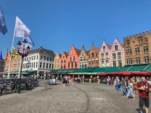 Bruges Grote Marky market square