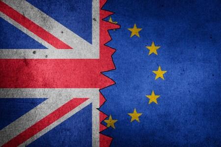 Brexit Union Jack EU flag