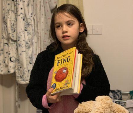 Kara at family book club