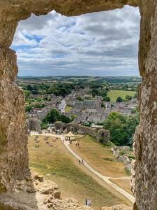 A view of town from Corfe Castle