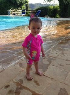 Kara at the pool