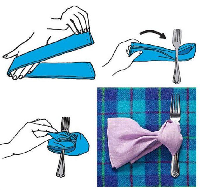 Салфетка превращается, салфетка превращается.. в стильный галстук