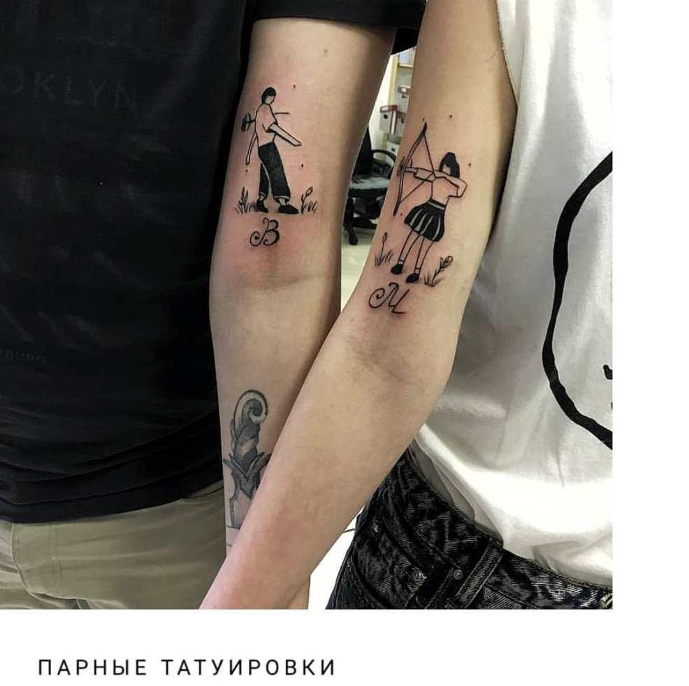 парные тату для влюбленных подруг эскизы значения 105 фото