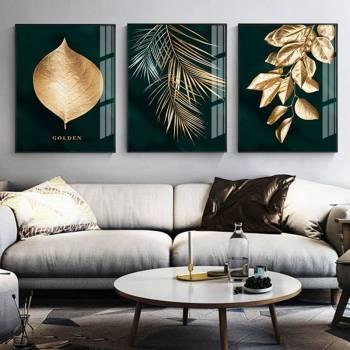 Zlati listi - Zidno platno
