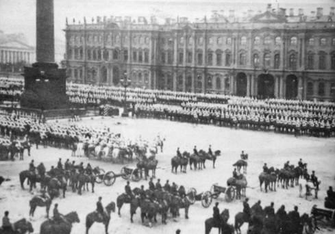 Парад на Дворцовой Площади. Фото Конца XIX – начала XX вв.