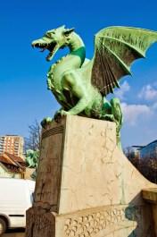 Dragon statue in Ljubljana, Slovenia (photo by: J. Slimák)