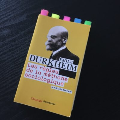 Livre Methode Durkheim