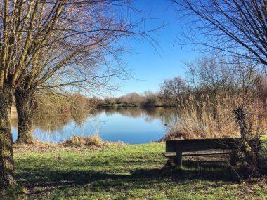 Slow Tourisme à Valenciennes Hergnies Banc Lac Nature