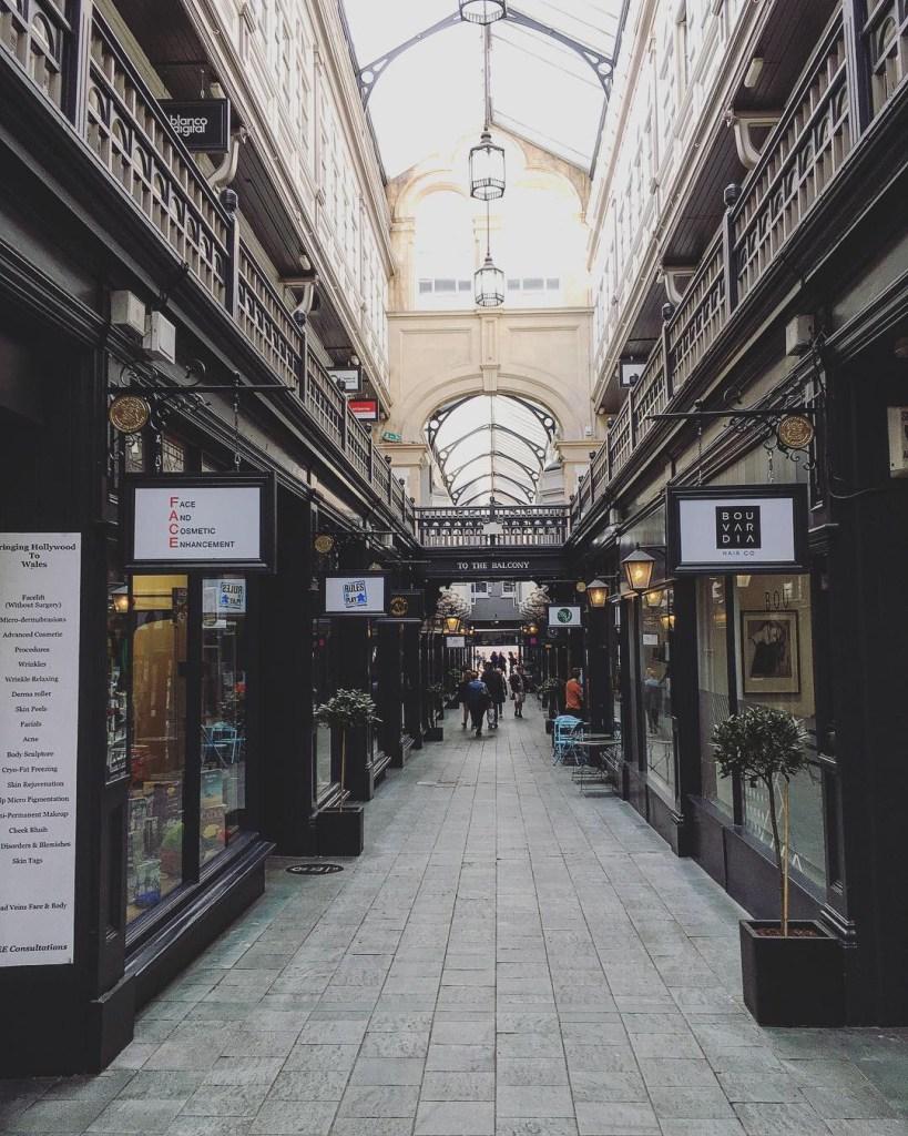Cardiff Victorian Arcades Pays de Galles Sol
