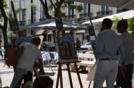 Lecția de pictură. Painting Lesson. Largo do Carmo, Lisboa. Foto: ©Slowaholic