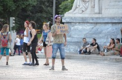 'Free hugs'. :) Lisbon, Portugal. 2012. Photo: ©Slowaholic