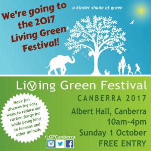 Living Green Festival Canberra 2017 logo
