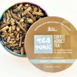 Tea Tonic Coffee Addict Loose Leaf Tea Travel Tin at Slow Beauty Eco Salon in Canberra