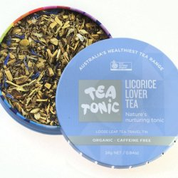 Licorice Lover Tea Loose Leaf Travel Tin at Slow Beauty Eco Salon in Canberra