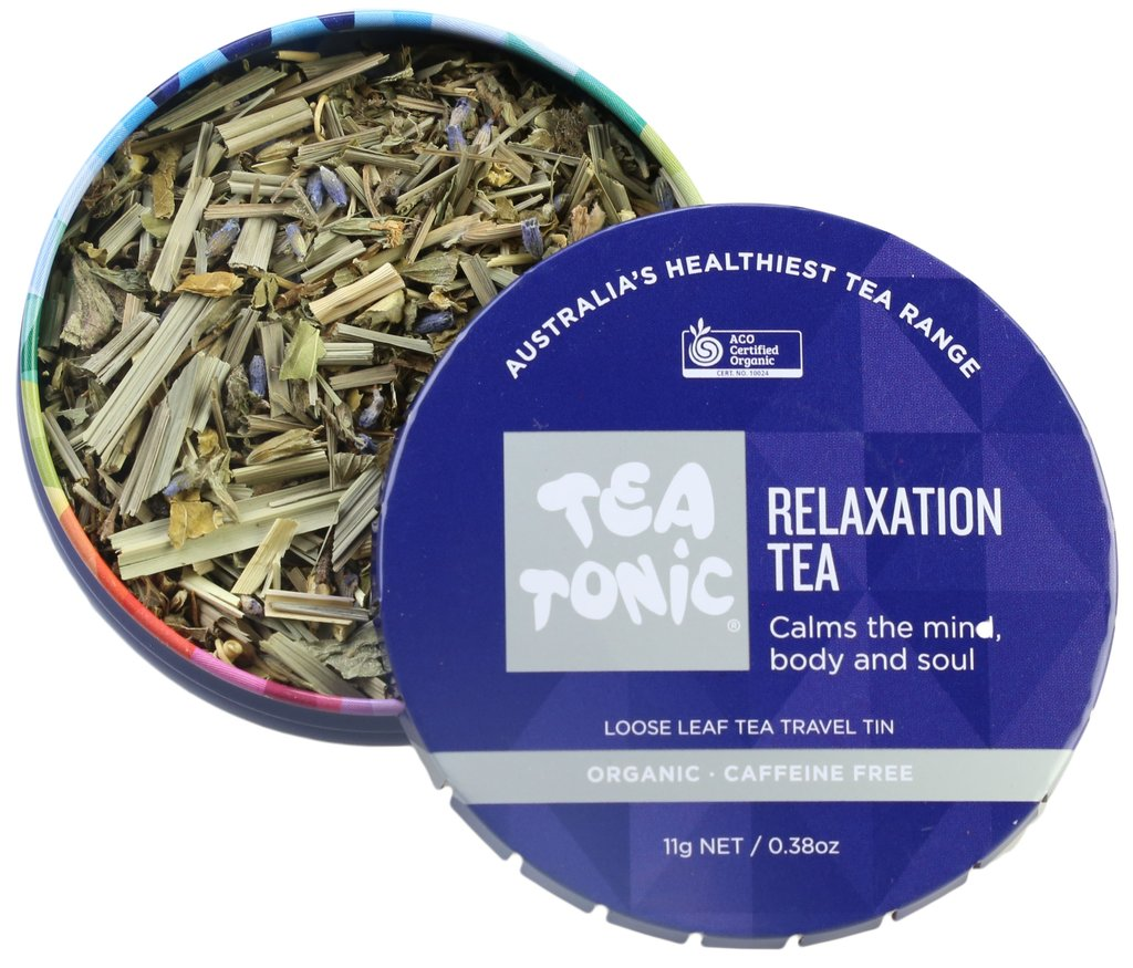 Relaxation Tea Travel Tin Loose Leaf Travel Tin at Slow Beauty Eco Salon in Canberra