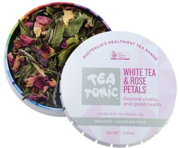 Tea Tonic Organic White Tea & Rose Petals | Slow Beauty Eco Salon | Canberra