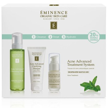 Eminence Organic Skin Care Acne Advanced Treatment System at Slow Beauty Eco Salon in Canberra