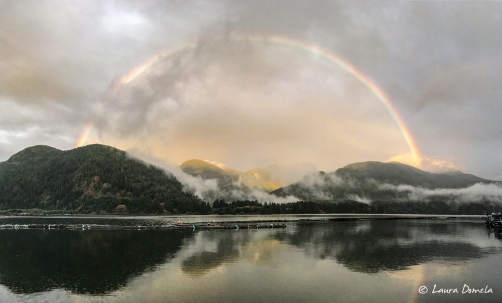 Rainbow from the Westview Marina in Tahsis
