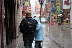 雪の中華街