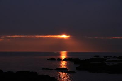 三戸浜海岸の夕景