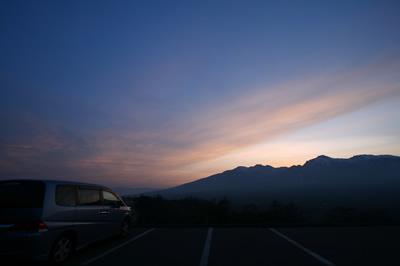 野辺山高原 平沢駐車場にて