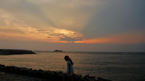 富津岬にて
