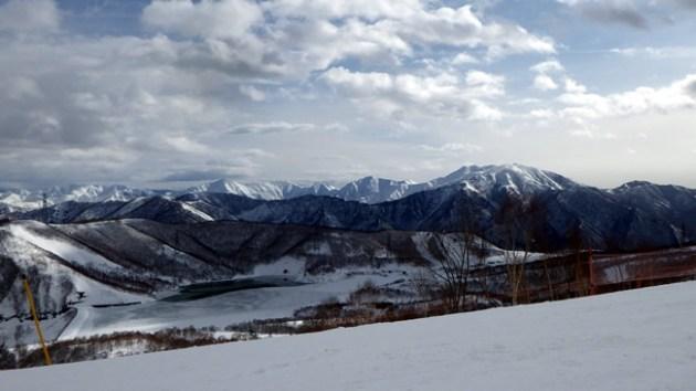 上越県境の山並み