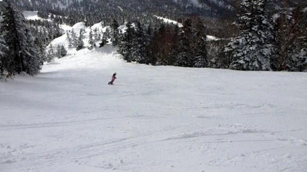 横手山スキー場第2ゲレンデ上部
