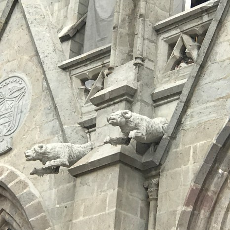basilica gargoyles rams