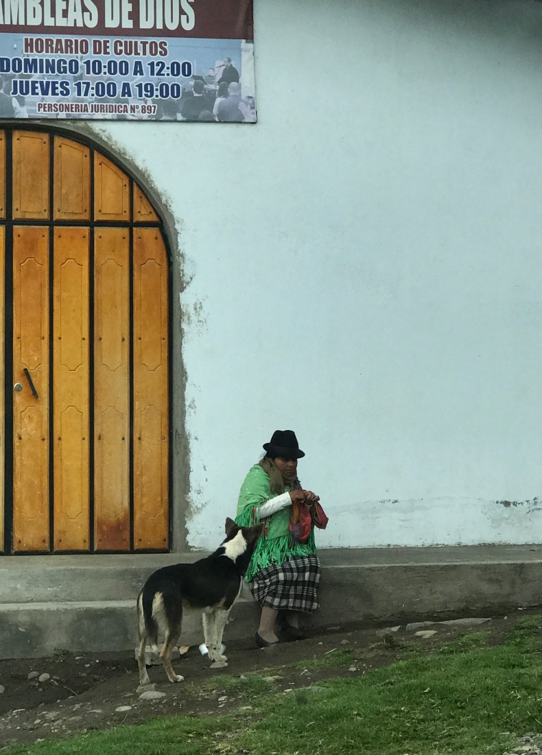 quilotoa woman and dog..JPG