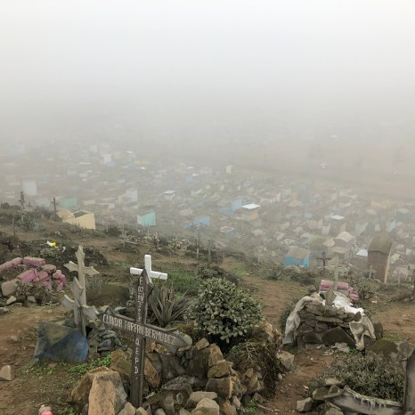 tour cemetary in clouds