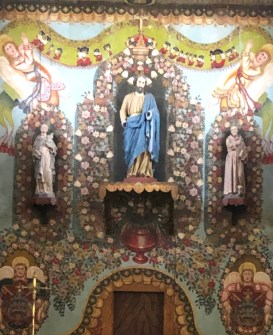 church painted altar