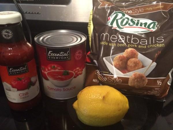 Nana's Sweet & Sour Meatball Ingredients