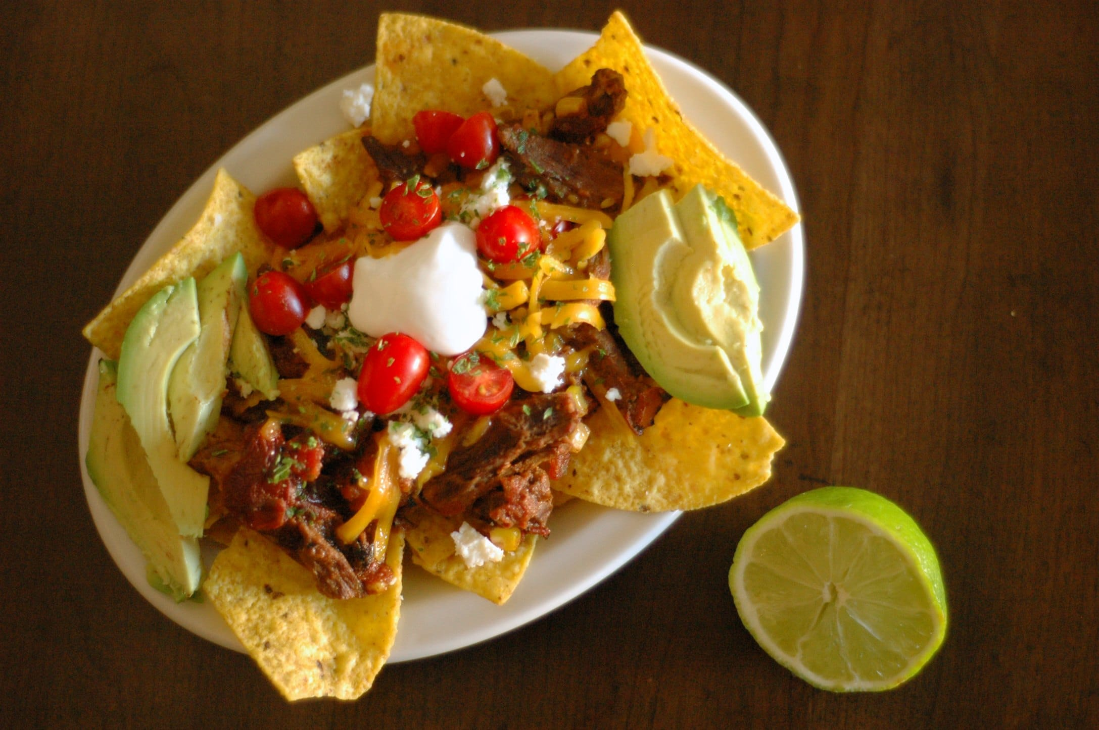 Slow Cooker Chipotle Beef Nachos