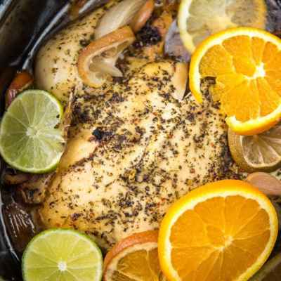 Slow Cooker Whole Chicken with Citrus and Herbs