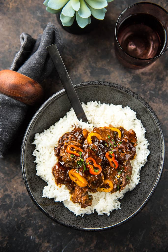 Slow Cooker Korean Beef with Sweet Peppers uses flank steak and sweet peppers to create a fresh meal using your slow cooker that's simple and quick to make!