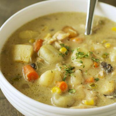 Freezer Meal:  Slow Cooker Chicken and Dumplings
