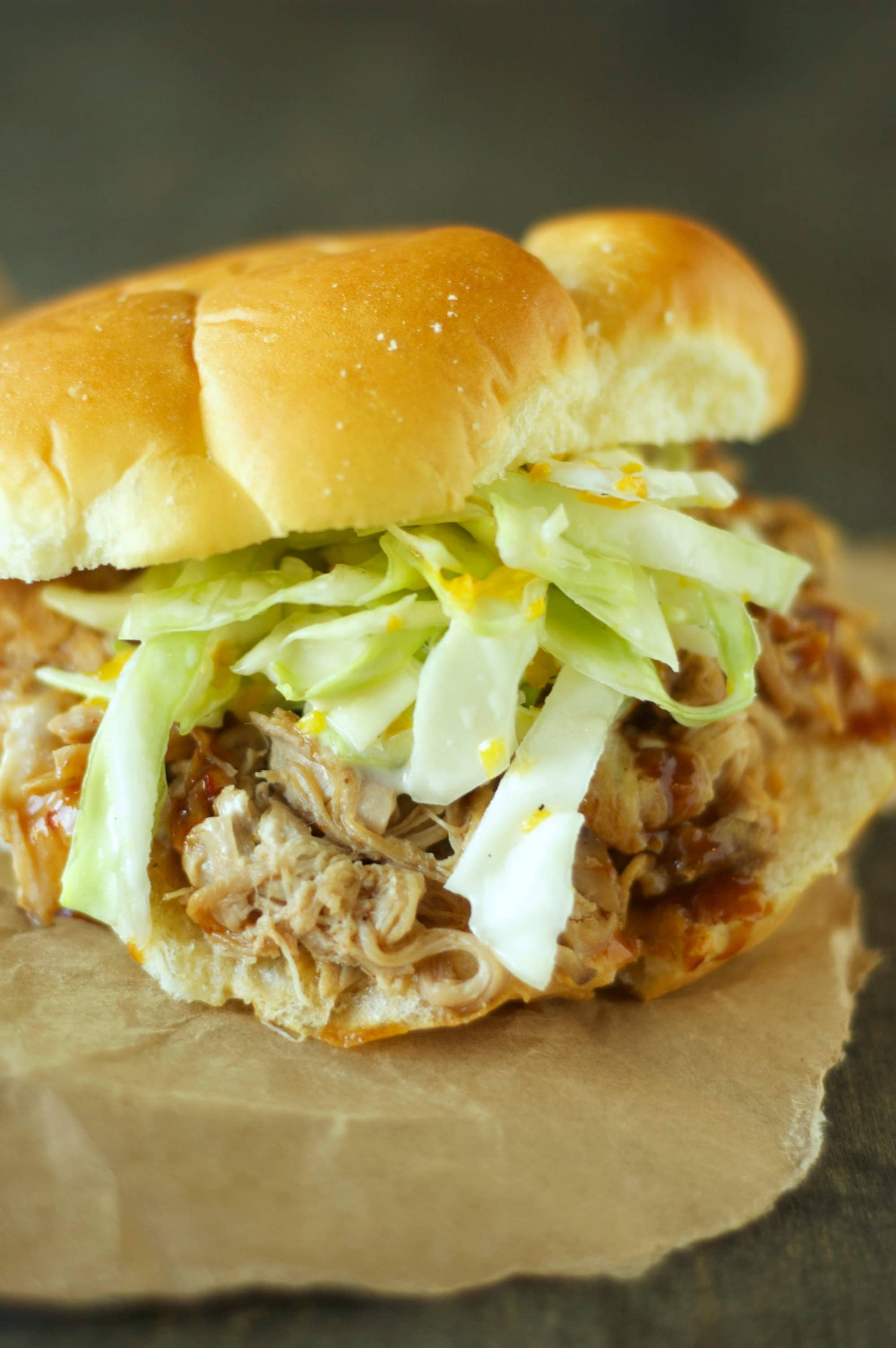 how to make slaw for pulled pork sandwiches